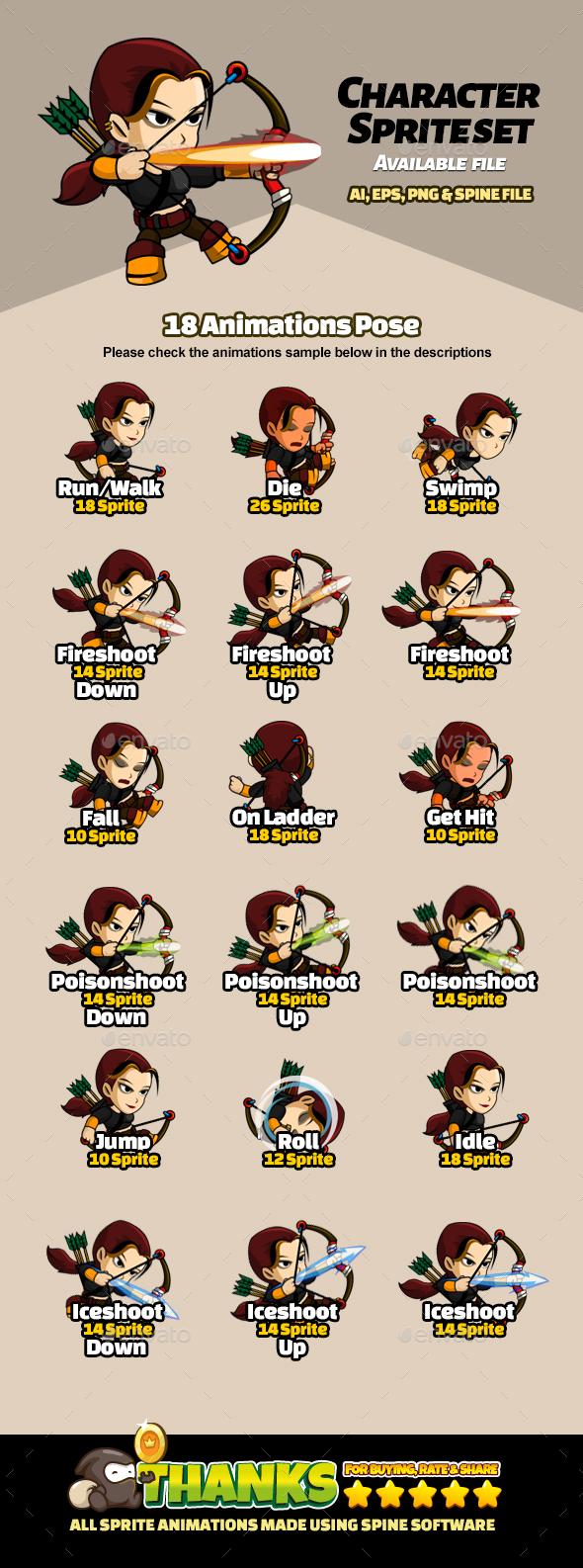 Character Set V13 (Sprites)