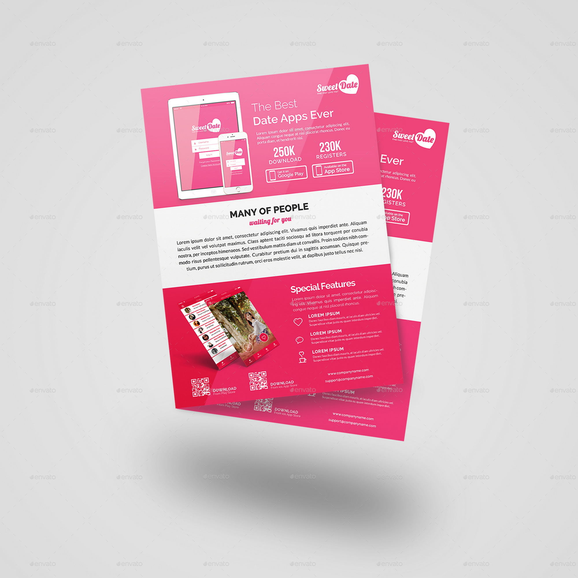 Charming 1 Page Website Template Tiny 10 Best Resume Writers Flat 100 Square Pool Template 1099 Employee Contract Template Old 2 Column Notes Template Yellow2 Page Resume Format Doc Mobile App Flyer Bundle   Bi Fold Brochure By Geelator | GraphicRiver