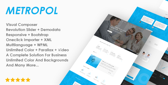 Download Metropol - A WordPress Theme For Investment & Finance