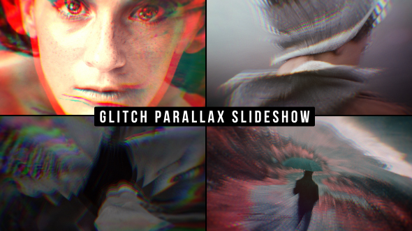 VideoHive Glitch Parallax Slideshow 19638658