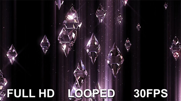 VideoHive Crystal Flying Background 19638884