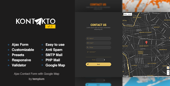 Contact Form Plugins Code Scripts From CodeCanyon - Bootstrap contact us page with map
