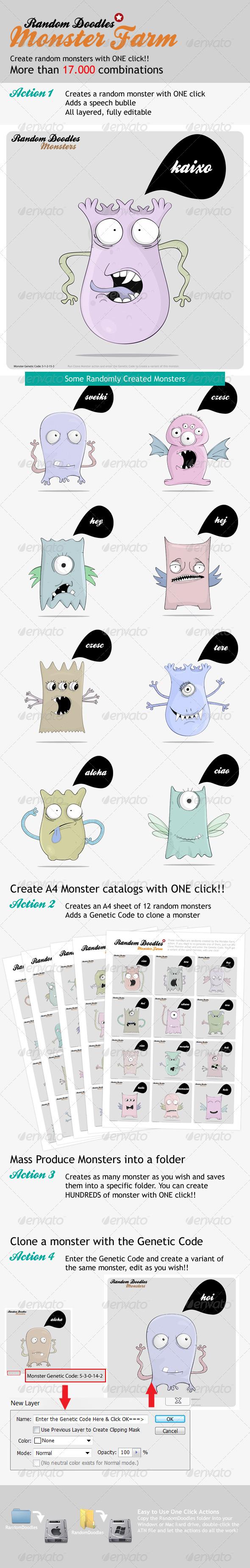 MonsterFarm - Random Doodle Generator - Utilities Actions
