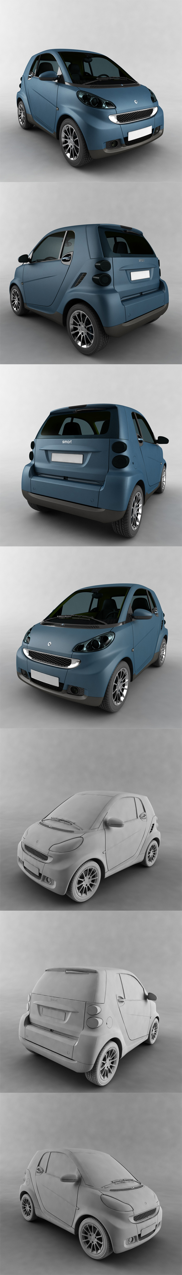 Smart ForTwo - 3DOcean Item for Sale