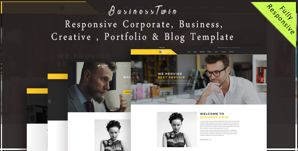 BusinessTwin - Responsive Corporate, Business, Creative , Portfolio & Blog Template