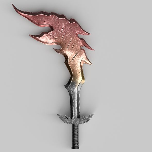 Fire Sword - 3DOcean Item for Sale