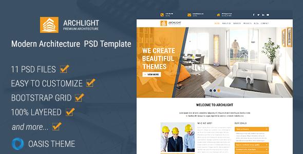 ArchLight - Modern PSD Template