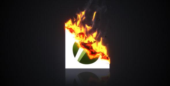 VideoHive Burning Paper Logo 1925502