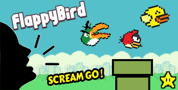 Flappy Scream Go ! – iOS Unity Game Template (Games)