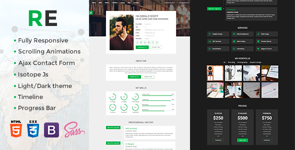 Image of RE - CV / Portfolio Responsive Template