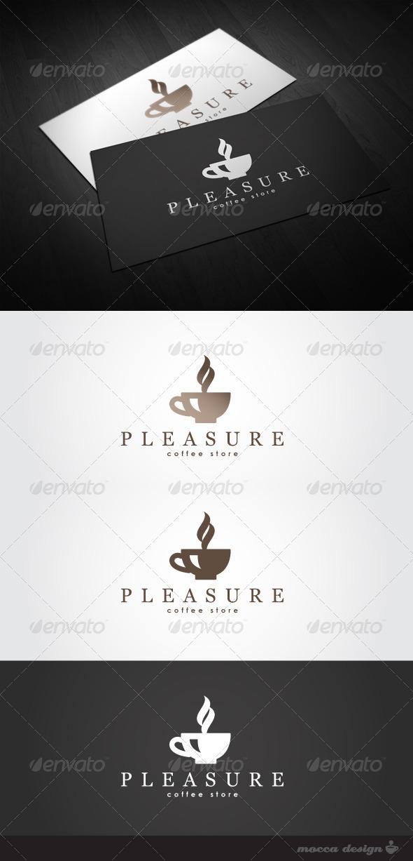 Graphic River Pleasure Coffee Logo Logo Templates -  Food 1925754