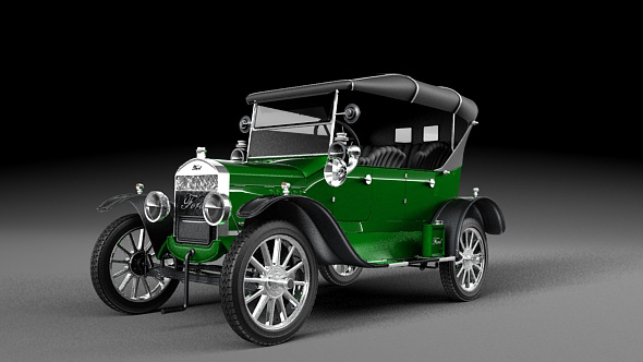 3DOcean Ford Model T 1924 Tin Lizzie 19642103