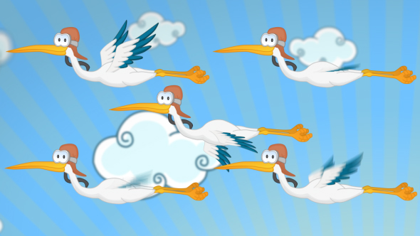 VideoHive Stork Cartoon 19642283