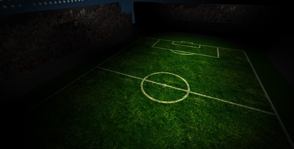 VideoHive Soccer Field Rotating 1925816
