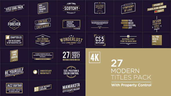 Videohive Titles Pack 19642640