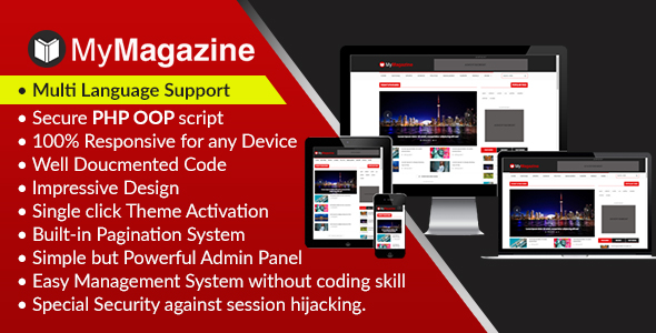 MyMagazine – Bootstrap Newspaper, Magazine and Weblog CMS Script (PHP Scripts)