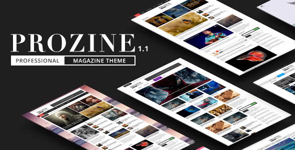 Prozine - News & Magazine WordPress Theme