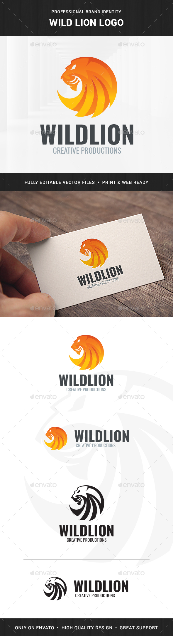Wild Lion Logo Template