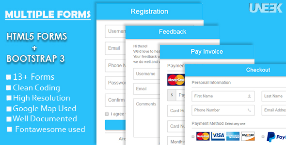 Responsive HTML5 Forms with Bootstrap 3 (Forms) Download