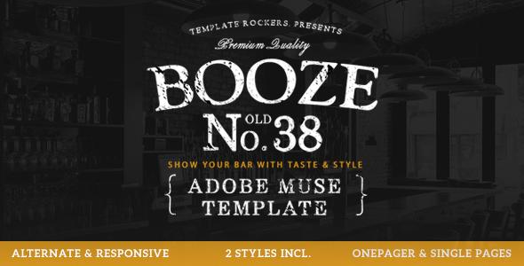Booze - Bar & Restaurant Muse Template