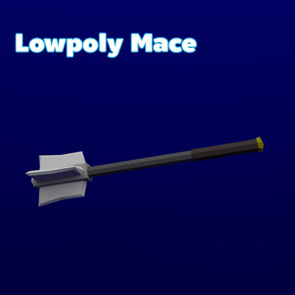 3DOcean Lowpoly Mace 19644792