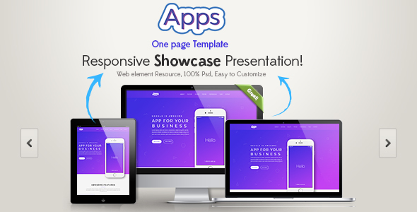 Download Apps One Page HTML Template