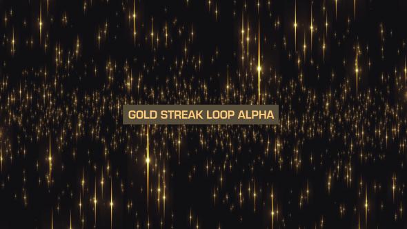 VideoHive Gold Streak Loop V2 19645094