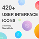 420+ UI Design Vector Icons Pack