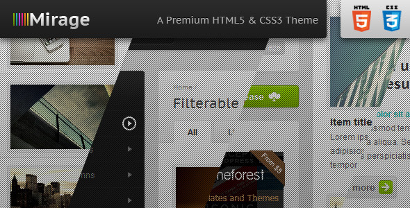 Mirage - Premium HTML & CSS Template - Preview