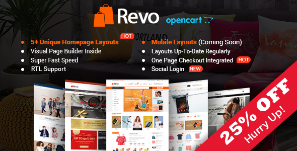 Revo - Drap & Drop Multipurpose OpenCart Theme