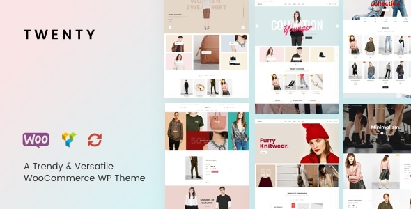Twenty – A Trendy &amp Versatile WooCommerce WordPress theme (Style)