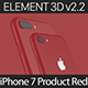 Element3D V2.2 iPhone 7 and 7 Plus Product Red