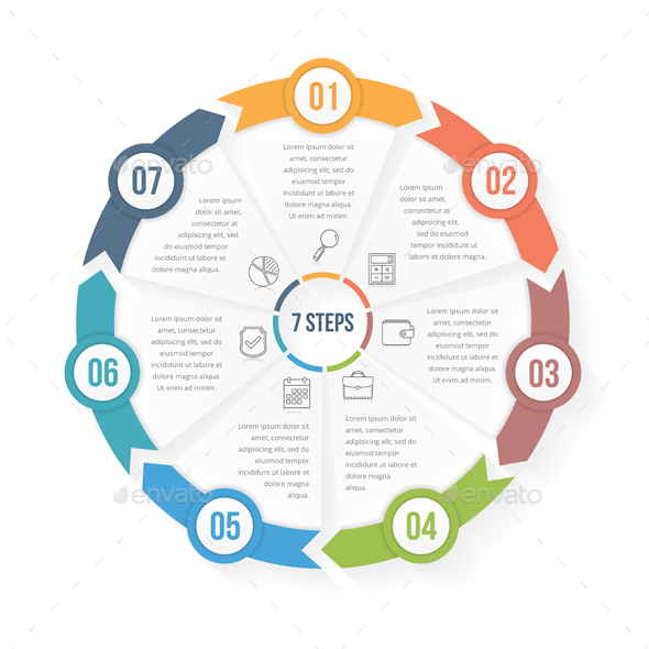 Graphicriver Circle Infographic Template with Seven Elements 19646958