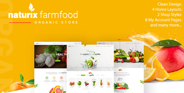 Naturix – Organic Fruit Vegetables Shop HTML Template (Meals)