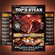 BBQ - Steak Menu Flyer Template