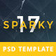 Sparky17-Multipurpose Business Agency/Personal Portfolio PSD Template