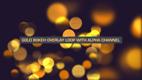 VideoHive Gold Bokeh Flow Loop V2 19647645