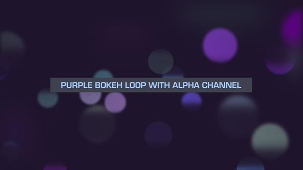 VideoHive Purple Bokeh Loop Overlay 19647670