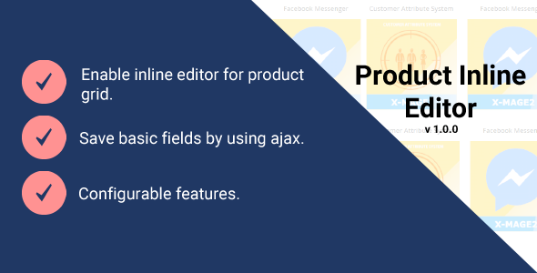 Magento 2 Product Inline Editor