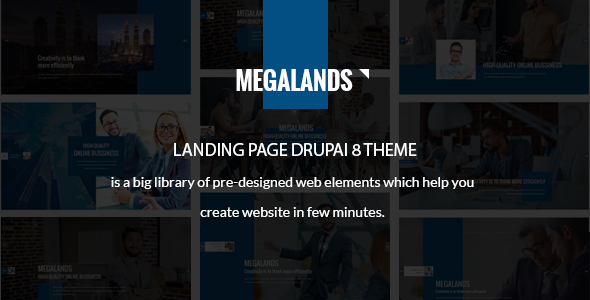MegaLands - Multipurpose Landing Pages Drupal 8 Theme