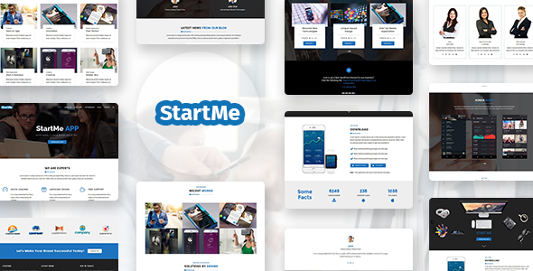 Download Startme - Landing pages for Mobile App, Products, Software, Hosting & Business