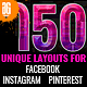 150 Facebook Instagram and Pinterest Banners 淘宝广告设计模-Graphicriver中文最全的素材分享平台