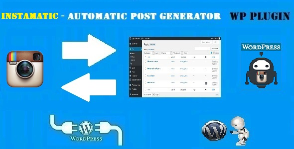 Instamatic Automatic Post Generator and Instagram Auto Poster Plugin for WordPress