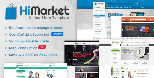 HiMarket - Multipurpose eCommerce OpenCart Theme