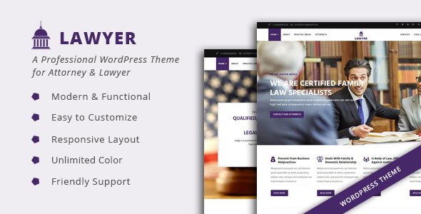 Download Lawyer - A Professional WordPress Theme for Attorney & Lawyer