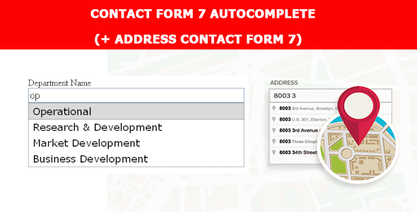 Contact Form 7 Autocomplete (+ address Contact Form 7)