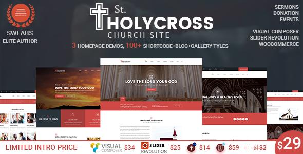 Download Church WordPress Theme | HolyCross Church