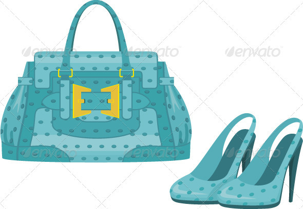 Graphic River Female bag and shoes Vectors -  Conceptual  Commercial / Shopping 1926349