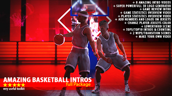Amazing Basketball Intros (Sports) After Effects Templates | F5