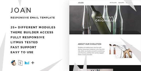 Image of Joan – Responsive Email + StampReady Builder